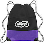 Polyester Two Tone Drawstring Bags